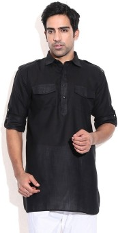 Royal Kurta Solid Men's Pathani Kurta