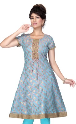 Lifestyle Lifestyle Retail Solid Women's Anarkali Kurta (Multicolor)