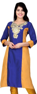 Lifestyle Lifestyle Retail Self Design Women's A-Line Kurta (Blue)