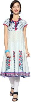 Rangmanch By Pantaloons Floral Print Women's Anarkali Kurta