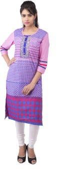 Kyaara Casual, Formal 3/4 Sleeve Printed, Embroidered Women's Kurti
