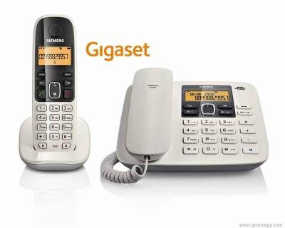 Gigaset A590 Corded & Cordless Landline Phone (White)