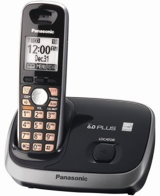 Panasonic KX-TG 6511 Cordless Landline Phone (Black)