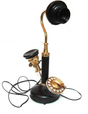 Aps Craft Candle Telephone Corded Landline Phone (Black)