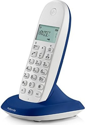 MOTOROLA C1001LBI Cordless Landline Phone (ROYAL BLUE)