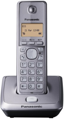 Panasonic KX TG 2711 Cordless Landline Phone (Black, Silver)