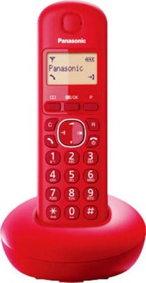 Panasonic KX-TGB210 Cordless Landline Phone (Red, Blue)