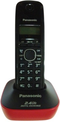 Panasonic KX-TG3411SXR Cordless Landline Phone (Red, Black)