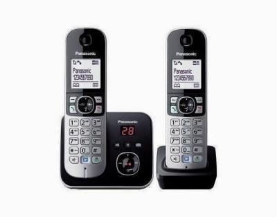 Panasonic PA-KX-TG6822 Cordless Landline Phone (Silver)