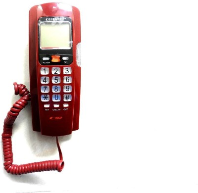 Shopo Caller ID Telephone for Office and Home Corded Landline Phone (Red)