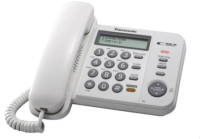 Panasonic KX-TS580MX Corded Landline Phone (White)