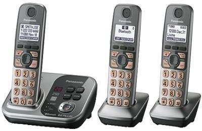 Panasonic PA-KX-TG7733 Cordless Landline Phone (Silver)