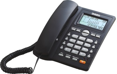 Uniden AS7412 Corded Landline Phone (Black)