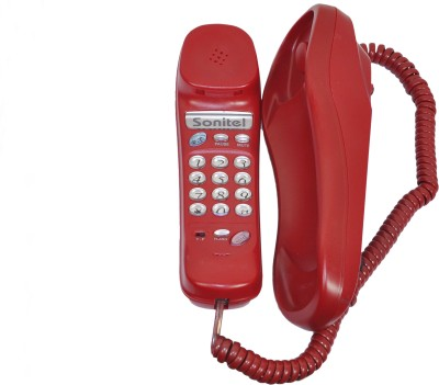 Sonitel HT-9702 Corded Landline Phone (Red)