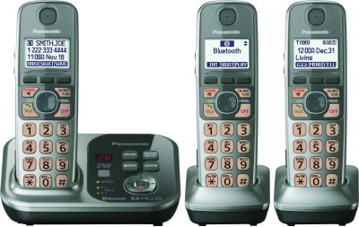 Panasonic KX-TG7733 Cordless Landline Phone (Grey)