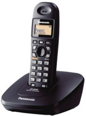 Panasonic KX TG3611SXB Cordless Landline Phone Black available at Flipkart for Rs.1765