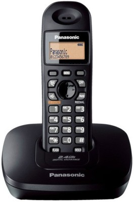 Panasonic KX-TG3411SXS Cordless Landline Phone (Black)