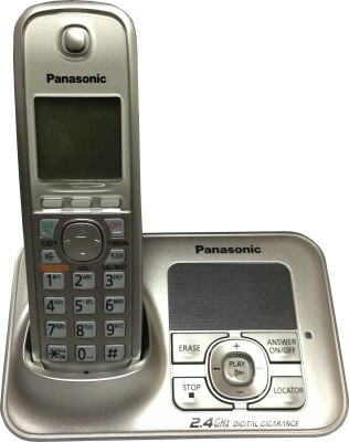 Panasonic KXTG-3721SX Cordless Digital Landline Phone Silver