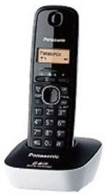 Panasonic KX-TG3411SXW Cordless Landline Phone (White, Black)