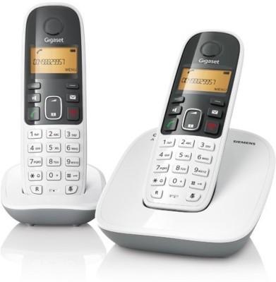 Gigaset A490 Duo Cordless Landline Phone (White)