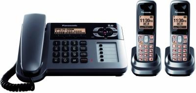 Panasonic KX-TG1062 Cordless Landline Phone (Black, Grey)