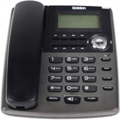 Uniden AS7401 Corded Landline Phone (TITANIUM)