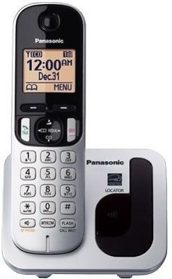 Panasonic KX-TGC210 Cordless Landline Phone (silver, black, white)