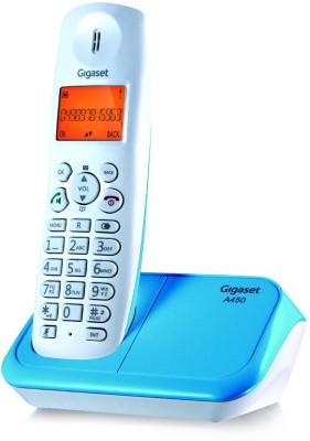 Gigaset A450 Cordless Landline Phone (white & Blue)