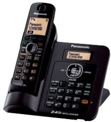 Panasonic KX-TG3811SXB Cordless Landline Phone (Black)