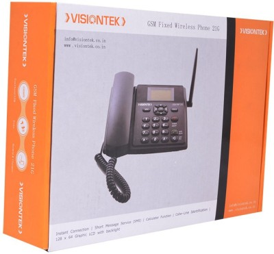 Visiontek 21G GSM Walky Corded Landline Phone (Black)