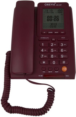 Oreva Or-1167 Corded Landline Phone (Maroon, Grey, Black)