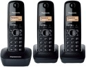 Panasonic KX-TG 1613 Cordless Landline Phone - Black
