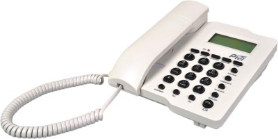 Ptel PT-88 Corded Landline Phone (Black, White)