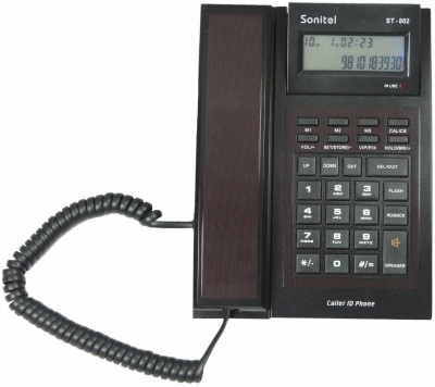 Sonitel ST-802 Corded Landline Phone (Brown)