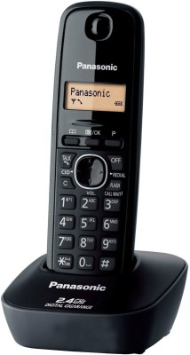 Panasonic KX TG3411SXH Cordless Landline Phone Black available at Flipkart for Rs.1698