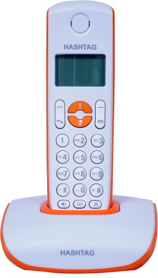 Hashtag 6333O Cordless Landline Phone (Orange, White)