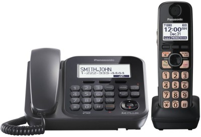 Panasonic KX-TG4771 Corded & Cordless Landline Phone (Black)