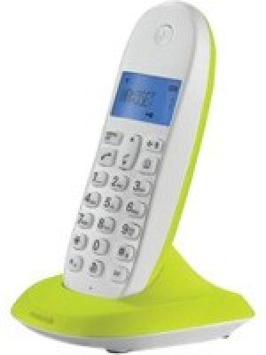 MOTOROLA C1001LBI Cordless Landline Phone (BLACK, WHITE, ROYAL BLUE, CHERRY RED, LIME LEMON)