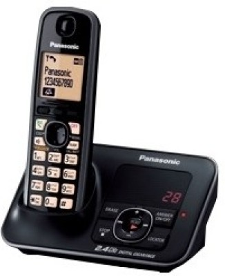 Panasonic KXTG-3721SX Cordless Digital Landline Phone (Black)