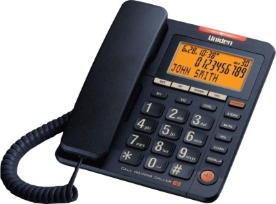 Uniden AS7409 Corded Landline Phone (Black)