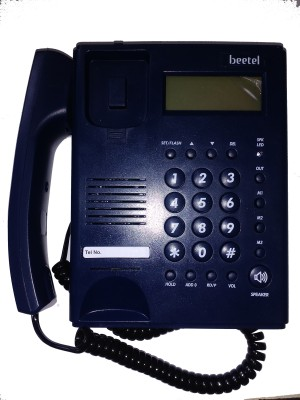 Beetel M53N Corded Landline Phone (Blue)