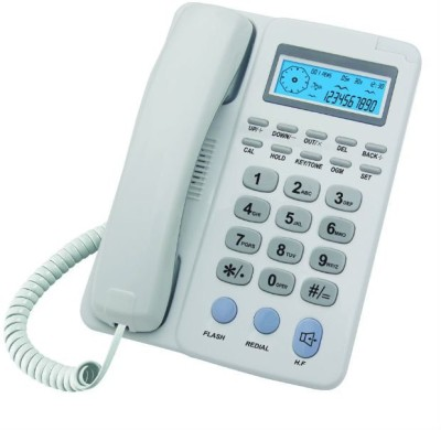 Microtel Caller ID Corded Landline Phone (white)
