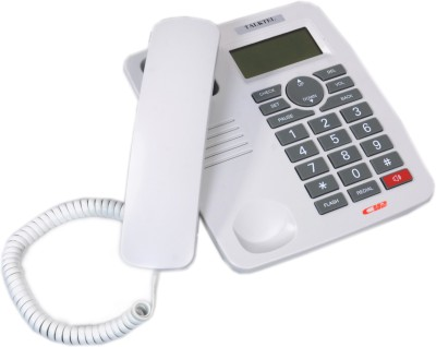 Talktel F-55 Corded Landline Phone (White)