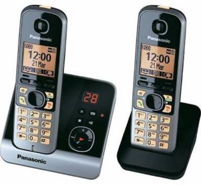 Panasonic KX-TG6722BX Cordless Landline Phone (Silver n Black)