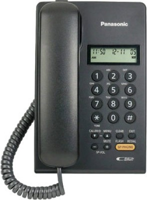 Panasonic KX TSC62SXB Corded Landline Phone Black available at Flipkart for Rs.1129