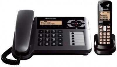 Panasonic KX-TG3651 2.4 GHz Digital Cordless Phone (Black)
