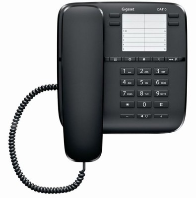 Gigaset DA410 Corded Landline Phone (Black)