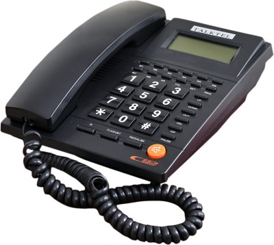 TALKTEL F66BK Corded Landline Phone (Black)