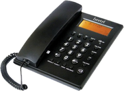 Beetel M53N Corded Landline Phone (Black)