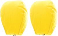 Indiangiftemporium Amazing Set Of 2 Yellow Paper Made Sky Lanterns 204 Yellow Paper Sky Lantern (80 Cm X 45 Cm, Pack Of 4)